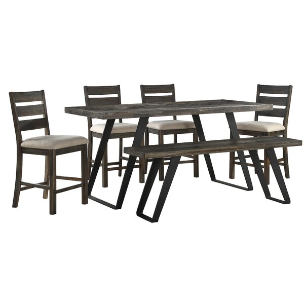 Kamille 6 Piece Counter Height Dining Set by Foundry Select Foundry Select