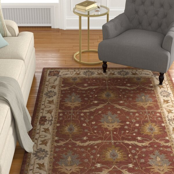 Exmoor Red Area Rug by Charlton Home