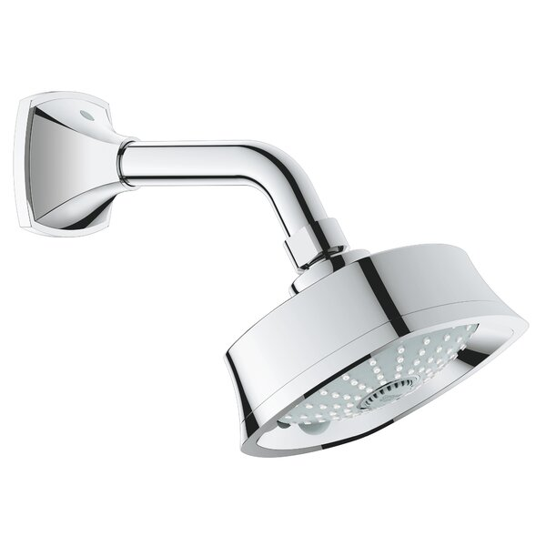Geneva Multi Function Adjustable Shower Head with SpeedClean Nozzles by GROHE GROHE