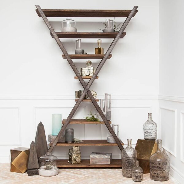 Brimfield Geometric Bookcase by 17 Stories 17 Stories