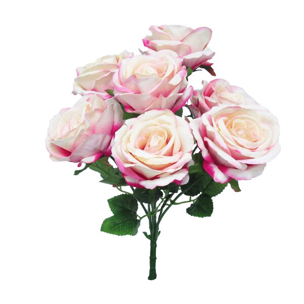 Velvet Bush Rose Floral Arrangement (Set of 2) by House of Hampton