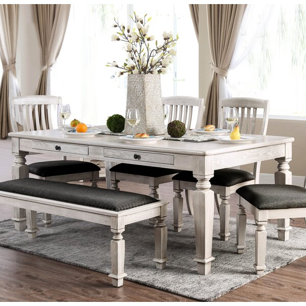 Tomas 6 Piece Solid Wood Dining Set by Ophelia & Co. Ophelia & Co.