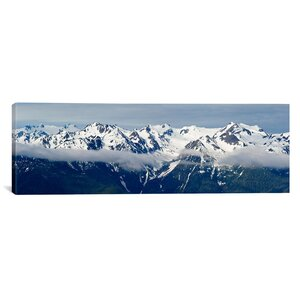 Panoramic Snow Covered Mountains, Hurricane Ridge, Olympic National Park, Washington State Photographic Print on Canvas by iCanvas