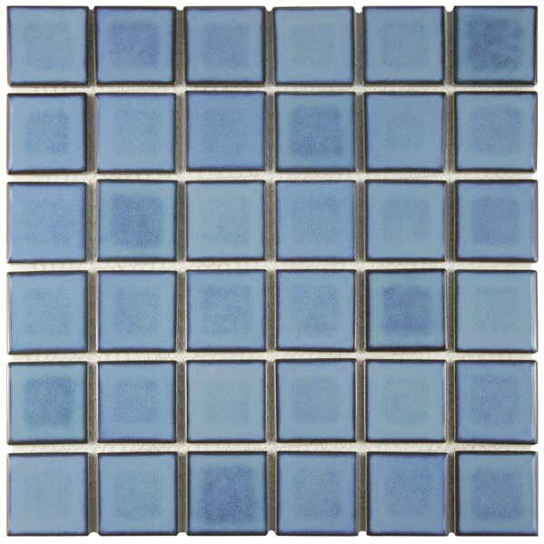 Arthur 2 x 2 Porcelain Mosaic Tile in Blue by EliteTile