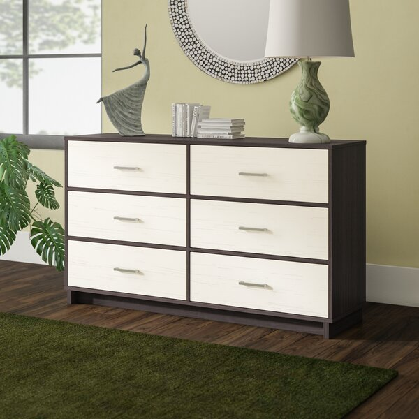 Modern  Chicopee Wood 6 Drawer Double Dresser By Zipcode Design 2019 Sale