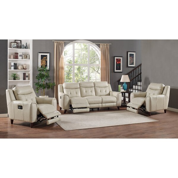 Paramount Reclining Leather Configurable Living Room Set by HYDELINE