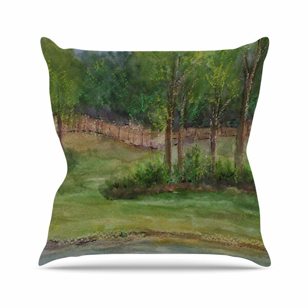Cyndi Steen a Storm at the Strand Travel Outdoor Throw Pillow by East Urban Home