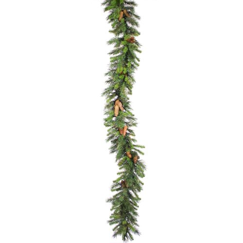 Commercial Pre Lit Cheyenne Pine Christmas Garland with Lights by Vickerman