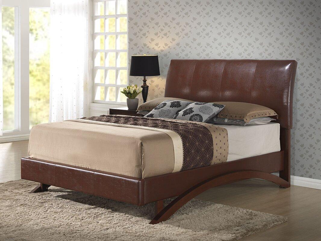 shana upholstered sleigh bed