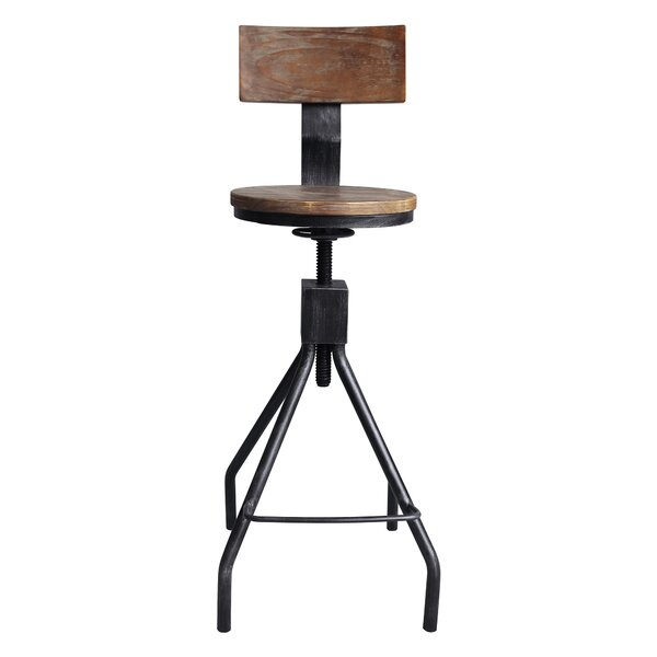 Bolden Adjustable Height Swivel Bar Stool by Williston Forge