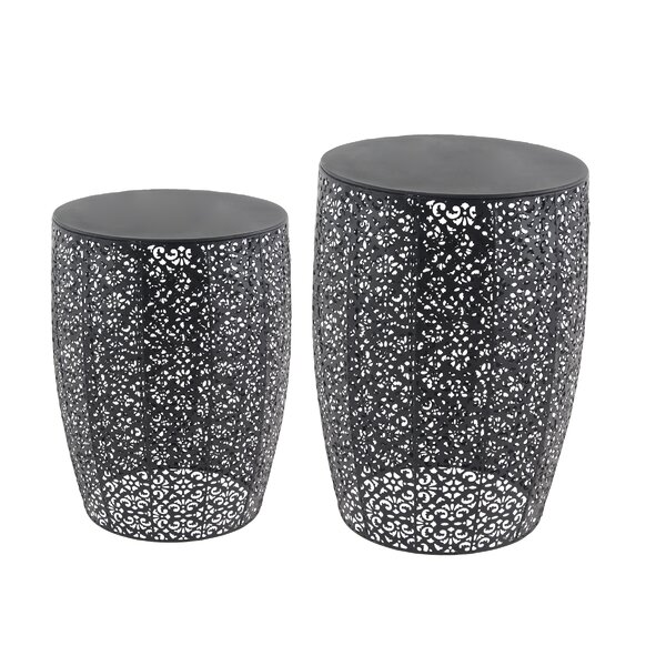Helsley Modern Solar 2 Piece Nesting Tables Set by World Menagerie
