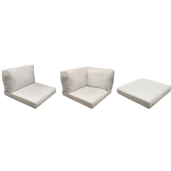 Monaco Outdoor 13 Piece Lounge Chair Cushion Set