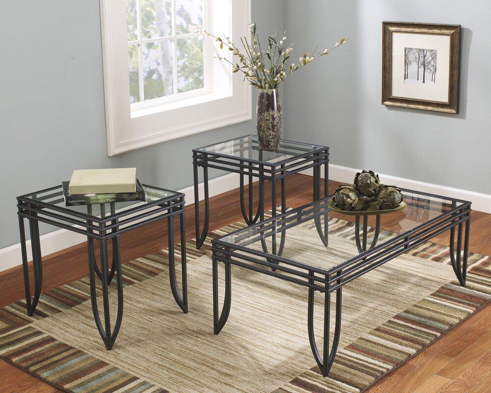 Winston Porter Myra 3 Piece Coffee Table Set U0026 Reviews   Wayfair