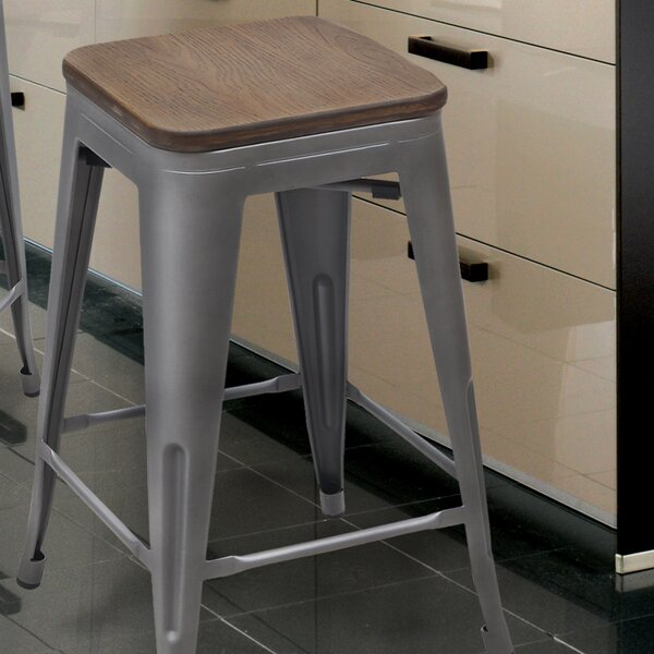 24 Bar Stool (Set of 2) by Adeco Trading