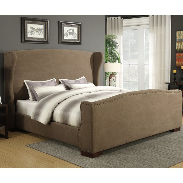 Wingback Upholstered Panel Bed by Best Quality Furniture