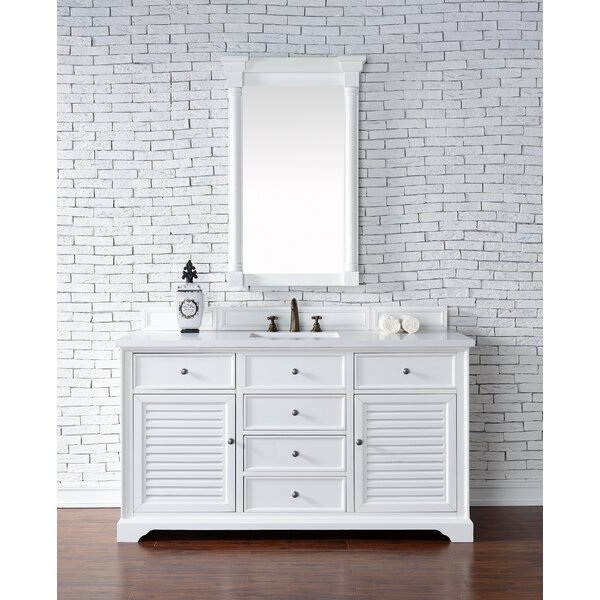 Osmond 60 Single Rectangular Sink Cottage White Bathroom Vanity Set by Greyleigh