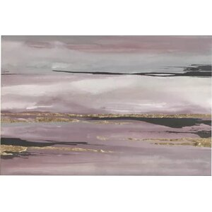 'Gilded Storm III' Painting Print on Canvas by East Urban Home