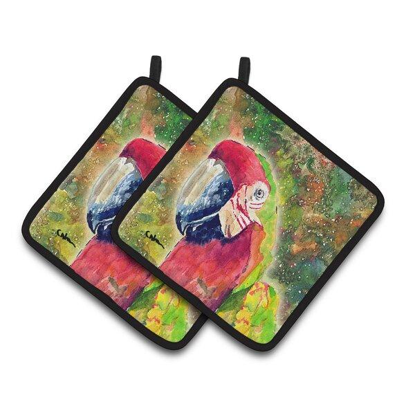 Parrot Potholder (Set of 2) by Caroline's Treasures