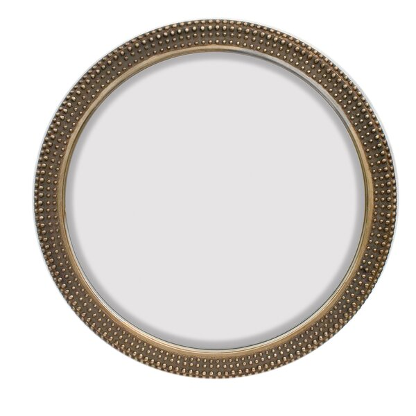 Large Round Traditional Silver Decorative Beveled Glass Wall Mirror by Majestic Mirror