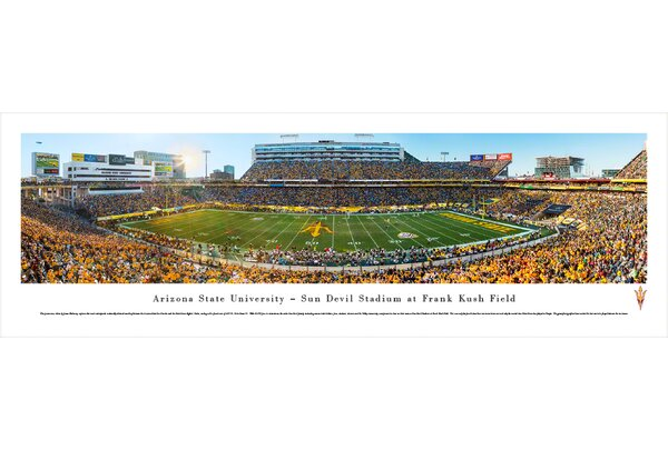 NCAA Arizona State University - 50 Yard Line by James Blakeway Photographic Print by Blakeway Worldwide Panoramas, Inc