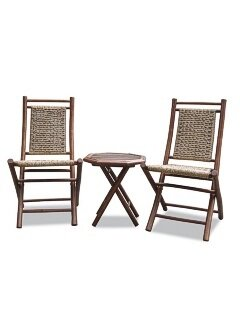 Exchange Bamboo Outdoor Conversation 3 Piece 2 Person Seating Group by Bay Isle Home