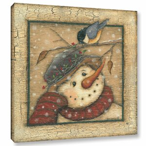 Snowman I Painting Print on Wrapped Canvas by The Holiday Aisle