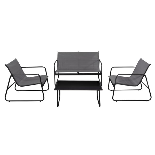 Swanville Patio Leisure 4 Piece Sofa Seating Group by Winston Porter