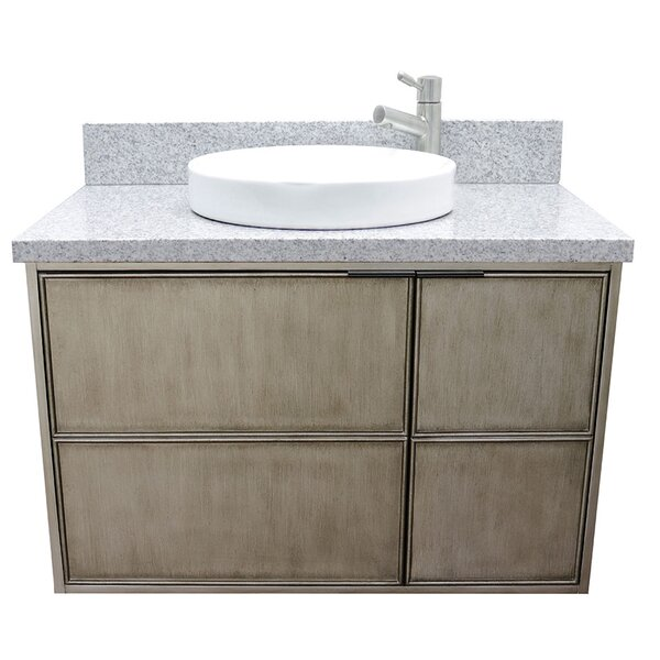 Wilks 37 Wall Mounted Single Bathroom Vanity Set by Bloomsbury Market