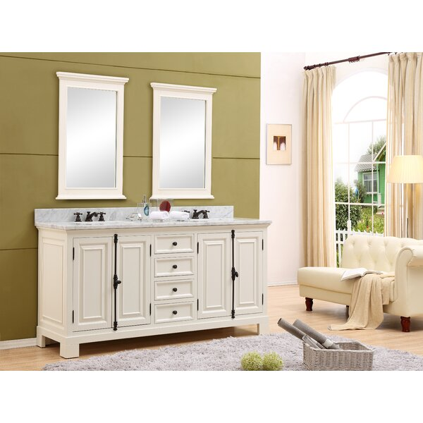 Hampson 60 Double Bathroom Vanity Set with Mirror by Canora Grey