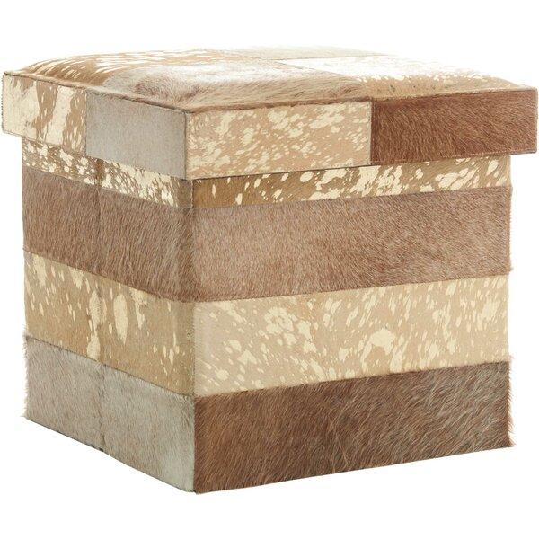 Deals Price Dutson Leather Storage Ottoman