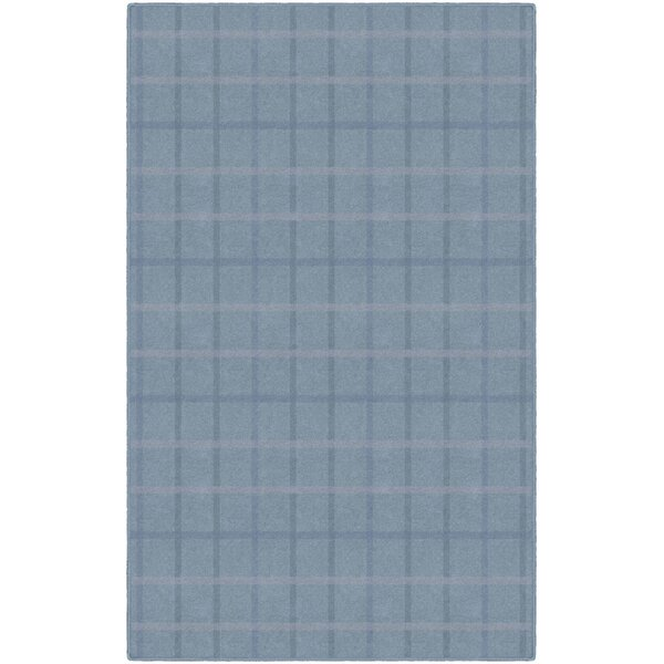 Journey Muted Plaid Blue Area Rug by Gracie Oaks