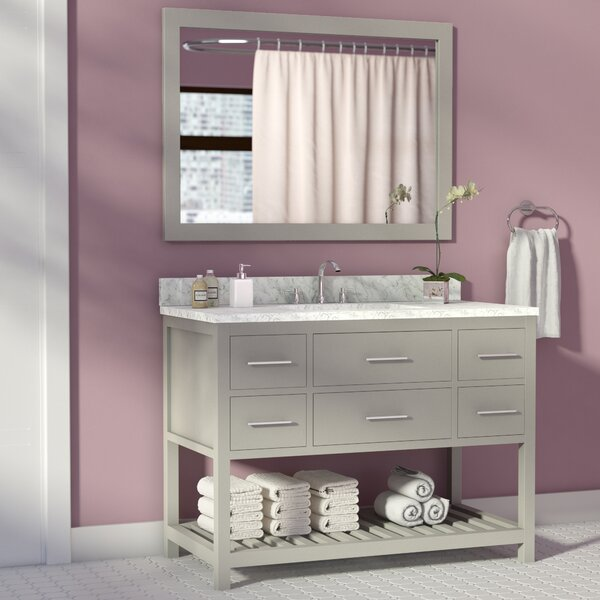Rizer 43 Single Bathroom Vanity with Mirror by Willa Arlo Interiors