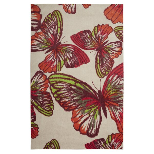 Johansson Urban Paradise Pink Area Rug by Harriet Bee