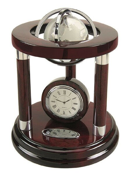 Galaxy Globe Tabletop Clock by Darby Home Co