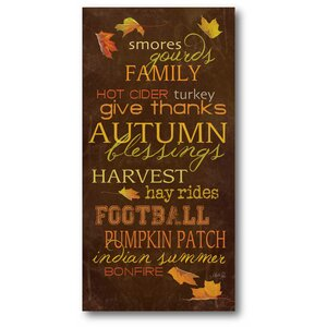 'Autumns Harvest' Textual Art on Canvas by Winston Porter