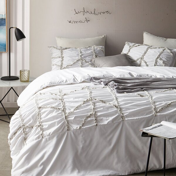 Beebe Textured Oversized Single Duvet Cover by House of Hampton