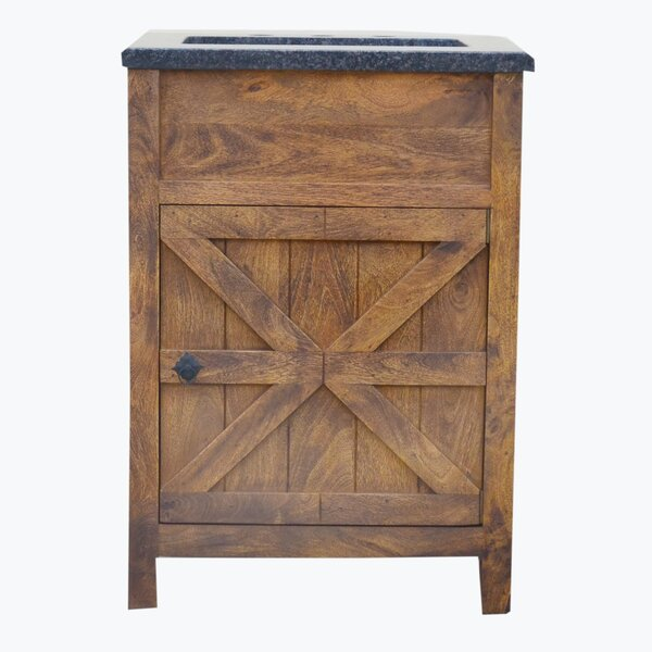 Esters Barn Door 24 Single Bathroom Vanity Set by Millwood Pines