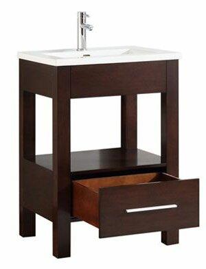 Cowart Vitreous China Top 25 Single Bathroom Vanity Set by Orren Ellis