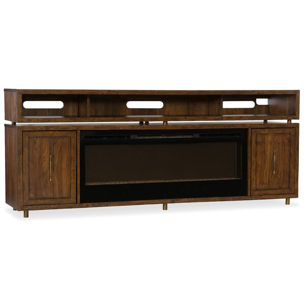 BigSur 84 TV Stand with Fireplace by Hooker Furniture
