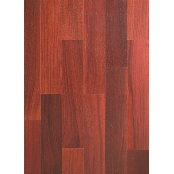 Ashton 5 Solid Teak Hardwood Flooring in Rosewood by Welles Hardwood
