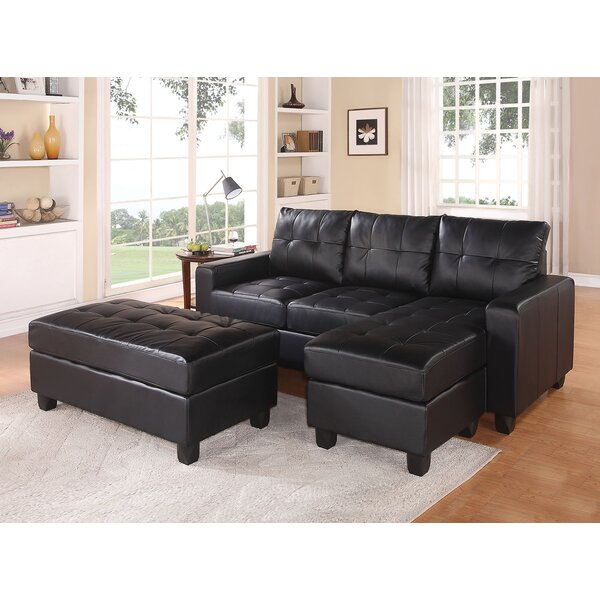 Batson Reversible Right Hand Facing Sectional With Ottoman By A&J Homes Studio