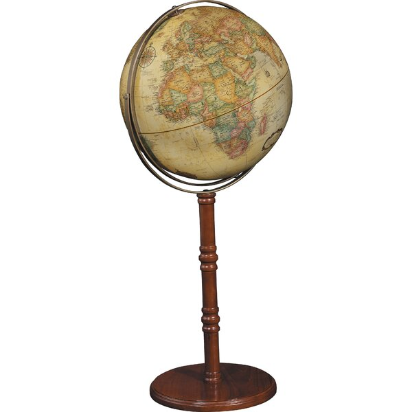 Commander II 16 Antique Floor/Desktop Globe by Replogle Globes