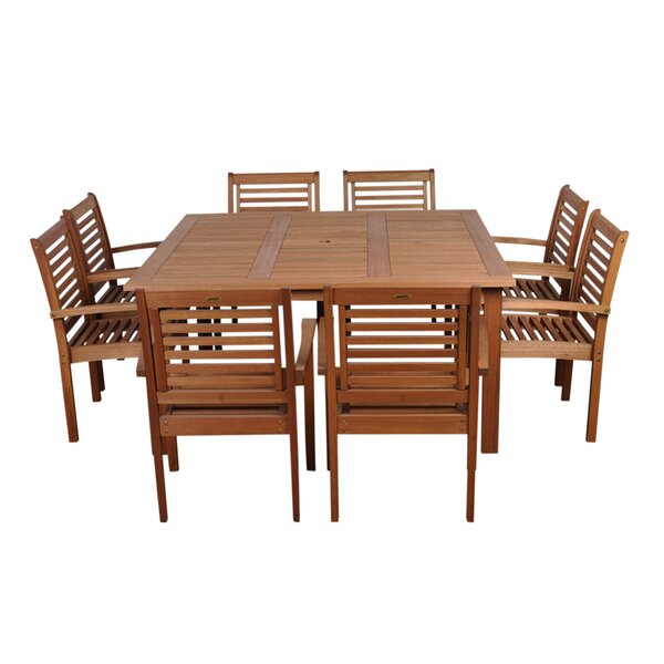 Mcniel International Home Outdoor 9 Piece Dining Set by Highland Dunes
