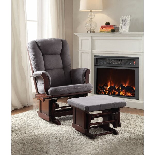 Criddle 2 Piece Glider and Ottoman by Harriet Bee