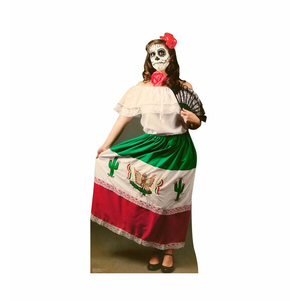 Day of The Dead Woman Cardboard Stand-Up by Advanced Graphics
