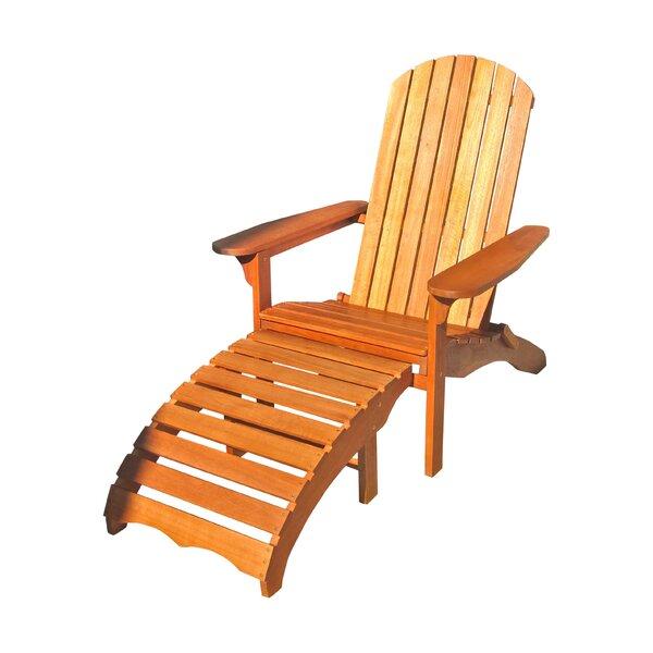 Sabbattus Adirondack Chair with Ottoman by Breakwater Bay