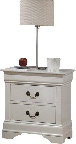 Tina Traditional 2 Drawer Nightstand by Laurel Foundry Modern Farmhouse