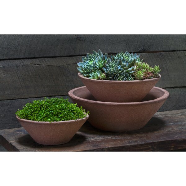 Blakely Earth Bowl 3-Piece Terracotta Pot Planter Set by Bloomsbury Market