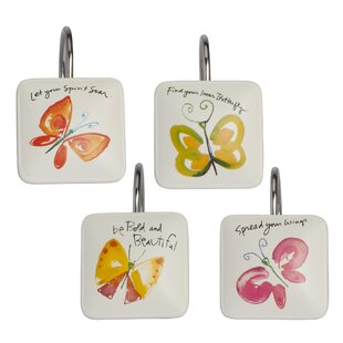 Read Reviews Flutterby Shower Curtain Hooks By Creative Bath