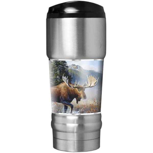 Moose Traditions 18 oz. Stainless Steel Travel Tumbler by Great American Products